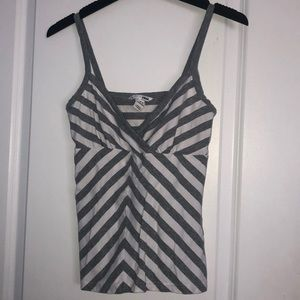 Striped Gray and White Tank Top from H&M